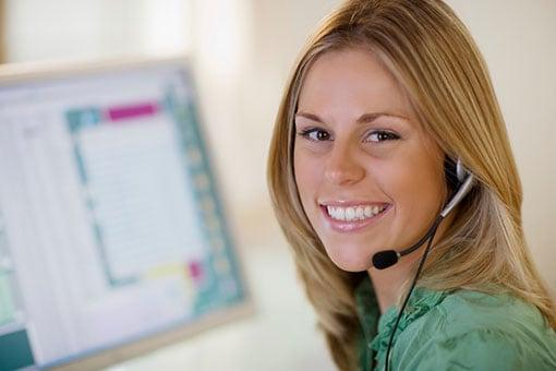 Virtual Receptionist Answering Phone Call